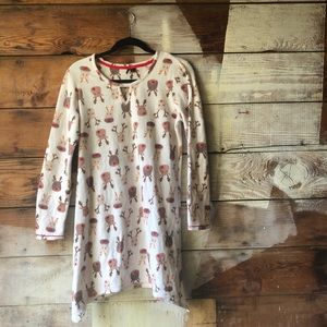 Kenzie Small Fleece Reindeer Rudolph Nightgown